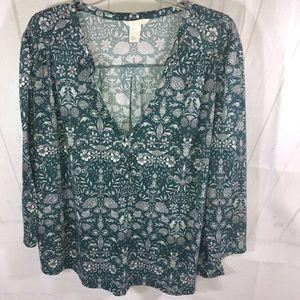 H&M Boho V-Neck Tunic Floral Design